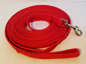 """Unbranded 5/8"""" x 20' Red Nylon/Cotton Blend Dog Leash - PreOwned"""