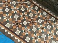 Antique Victorian Reclaimed Floor Tiles