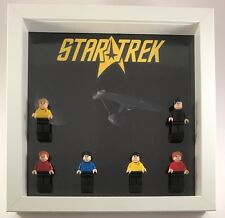Lego Star Trek custom minifigure Display Case Frame + Custom Figures