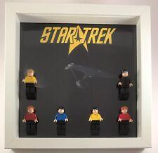 Lego Star Trek Custom Figurine Display Case Frame + CUSTOM figures