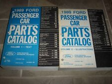 1989 Ford Thunderbird Parts Catalog Manual Coupe SC Supercharged 3.8L 4.6L 5.0L