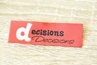 Decisions Words Letters 8pcs 20x60mm Woven Clothing Label Tags Sew On
