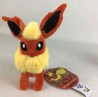 "Flareon Pokemon 7"" Plush Stuffed Animal Japanese Fire Type New with Tags"