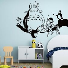 Cartoon 3D Totoro Wall Sticker for Kids Room Hayao Miyazaki Animation Ghibli