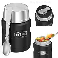 Thermos Stainless Steel Coffee Mug Insulated Food Jar Folding Spoon Soup Contain