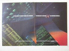 7/1989 PUB TEXTRON LYCOMING ALF 502 TURBOFAN UNITED EXPRESS BAE 146 ORIGINAL AD