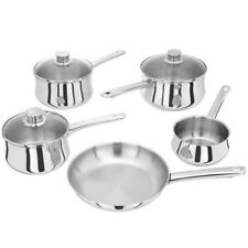 New Stellar 1000 Stainless Steel Induction 5 Piece Pan Set