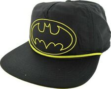 Batman Yellow Logo Slouch Snapback Hat Adjustable Cap