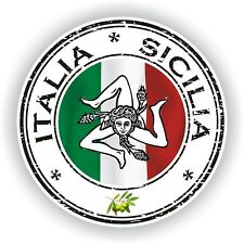 Seal Sticker of Italy Italia Sicilia Stamp Bumper Roundel Truck Laptop Car #01