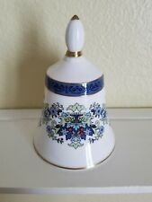 Royal Doulton Franklin Mint Porcelain Collectible Bell, Blue Band, Green Urn
