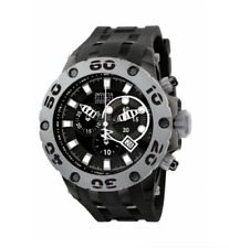 NWOT Men's Invicta 0912 Specialty Reserve Black Poly black Chrono Dial Watch