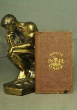 Boston Almanac 1842 antique old little book S N Dickinson Thomas Groom map
