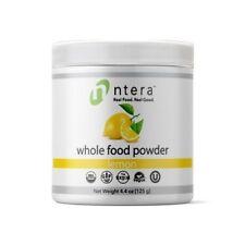 NTERA Lemon Whole Food Powder USDA Organic, Gluten-Free, Non-GMO, Vegan, Kosher