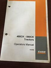 CASE 580CK 480 580 BACKHOE LOADER OPERATOR'S MANUAL