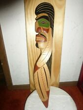 "Northwest Coast Salish-""Warrior"" Carving-Plaque. Must See!"
