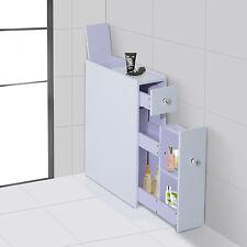 HOMCOM Bathroom Floor Kitchen Cabinet Organizer Shelves Bath Storage Towel Stand