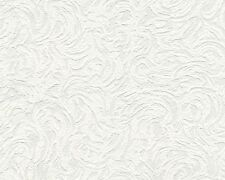 White Blown Vinyl Wallpaper Embossed Textured Patterned Paintable 5806 Design