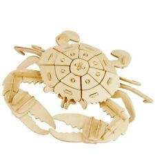 DIY Crafts Wooden Crab Model Hand Assemble Gifts Decorative Home Kit Accessories