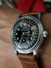 vintage oris pointer date calendar watch, Black Dial