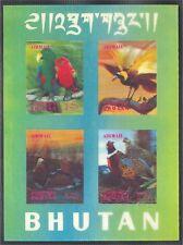 BHUTAN, BIRDS 3-D STAMPS 1969, BOTH SHEETLETS MNH!