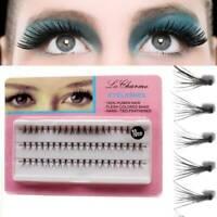 60x Black Individual Magnetic 3D False Eyelash No Glue Extension Fake Eyelashes