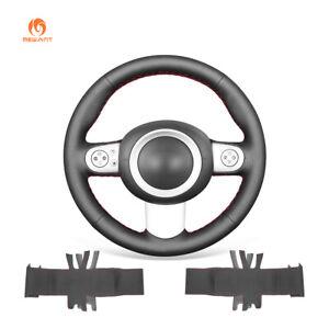 MEWANT PU Leather Car Steering Wheel Cover for Mini Cooper 2001-2004 (3 Spoke)