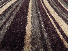 City Twist Carpet In Berry - Plum & Silver Striped Pattern 4m widths £9.99 M/2