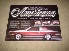 1981 pontiac grand prix special edition usa prospectus brochure