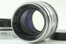 【EXC+5 w/HOOD】Canon 50mm f/1.8 Leica Mount L39 LTM silver ✈FedEx From JAPAN A337