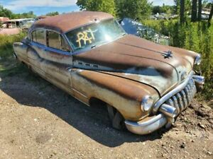 50-70 Series. 1950 Buick Rear Glass Window Frame Interior 4 Dr