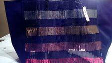 VICTORIA'S SECRET 2017 BLACK FRIDAY Sequin Tote Bag & Mini Sequin BAG NEW NWT