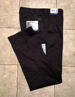 IZOD  * Mens Black Casual Pants * Size 32(33) x 34 * NEW WITH TAGS