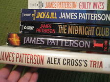 Original Lot of 5 JAMES PATTERSON Paperback Hard Cover Novel Trial 1st Edition