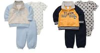 NEW Boys Carters 6 Months 3 Piece Set Football Outfit Cardigan Track Suit