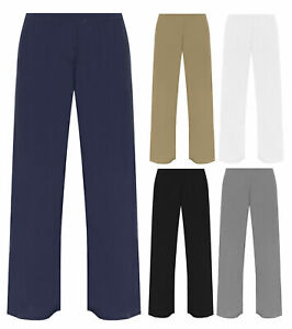 New Ladies ITY  Wide Leg Casual Trousers Sizes UK S/M, M/L, XL, 2XL 3XL