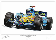 Fernando Alonso Renault R26 Large Ltd Edition F1 Print