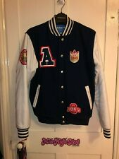 RARE VINTAGE ADIDAS ORIGINALS VARSITY JACKET BASEBALL RUN DMC OLD SCHOOL HIP HOP