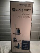 Glacier Bay Tension Pole Shower Caddy in Satin Chrome with 3-Shelves