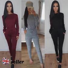 Women's No Pattern Cotton Blend Long Sleeve Jumpsuits & Playsuits