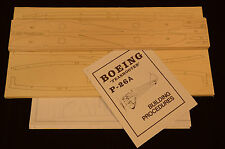"""1/5 Scale Royal Boeing P-26A PEASHOOTER Laser Cut Short Kit, Plans & Inst 67"""" WS"""
