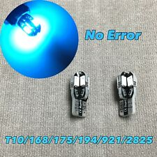 PARKING LIGHT No Canbus Error T10 W5W 168 175 194 2825 8 LED ICE BLUE bulb W1 J