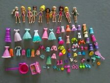 Polly Pocket Huge Lot of Dolls, Clothing and Accessories