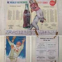HIGH SCHOOL FOOTBALL PROGRAM - Vtg 1959 Coke Assumption vs Collinsville Illinois