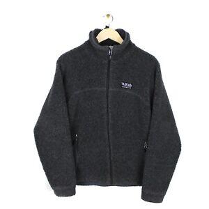 RAB Double Pile Mens Full Zip Grey Fleece Hiking Jacket Top - Size M/L