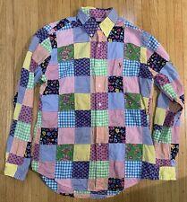 Nwots Polo Ralph Lauren Mens Plaid Madras Patchwork Button Down Shirt Sz M $299