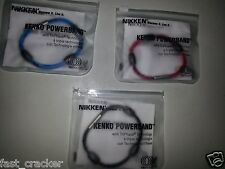 NIKKEN KENKO POWERBAND WRIST BRACELET MED. #19080 BLACK NEW WORLDWIDE SHIPPING!