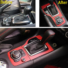 For Mazda 3 Axela 13-15 Carbon Fiber Style Film Console Gear Shift Panel Sticker