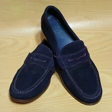 Cole Haan Blue Suede Leather Loafers Shoes Men's 10 M