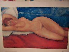 Lithographie Modigliani VENUS numéroté N° FL 954   60,5 cm X 38 cm