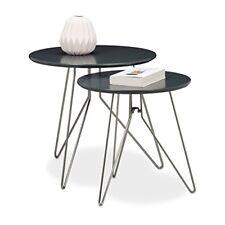 (tg. 64x64x44 Cm) Relaxdays 10020364 Set tavolini per soggiorno con gambe in me